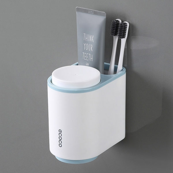 Blue Toothbrush Holder, Designer Toothbrush Holder, Toothbrush Holder Set, Modern Toothbrush Holder