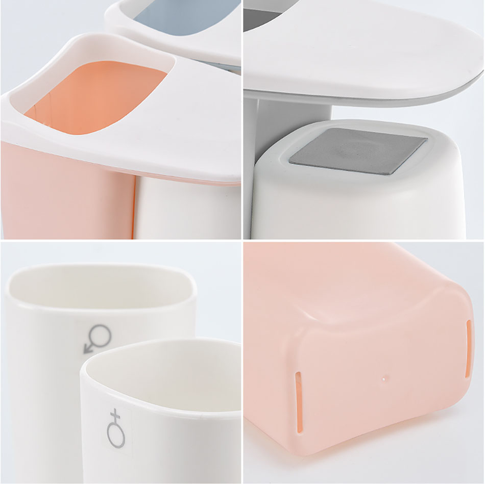 Parts of Pink Toothbrush Holder
