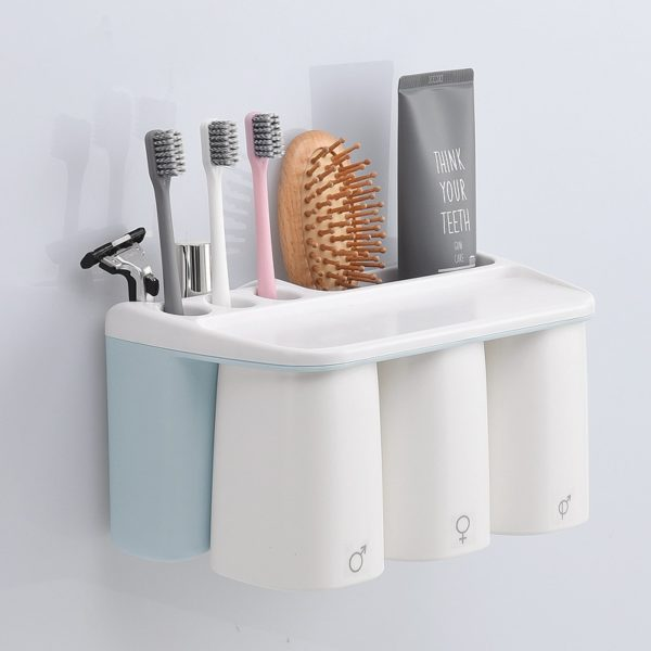 Blue Toothbrush Holder with Holes