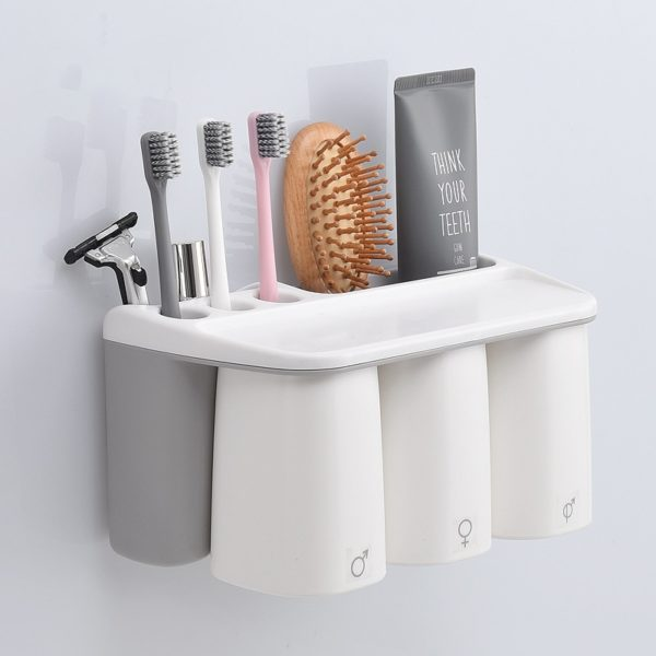 Grey Toothbrush Holder for Family