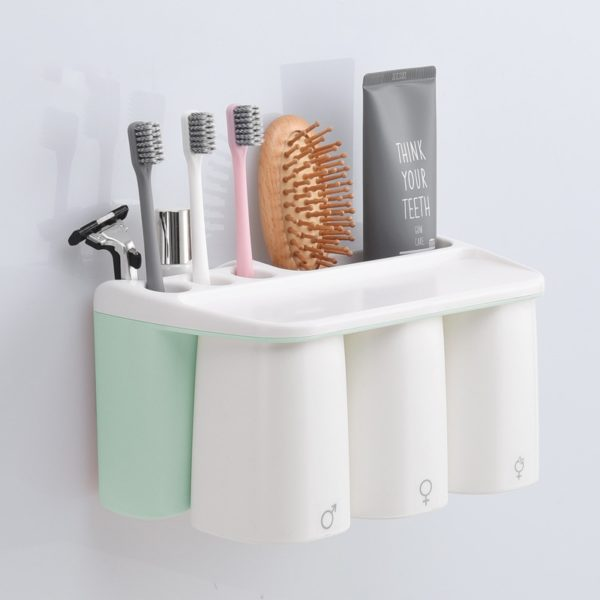 Green Designer Toothbrush Holder for Family