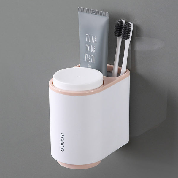 Pink Toothbrush Holder, Designer Toothbrush Holder, Toothbrush Holder Set, Modern Toothbrush Holder