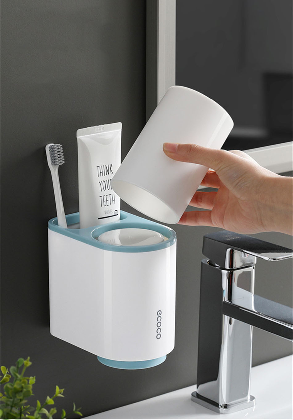 Blue Toothbrush Holder Top Cup Insert