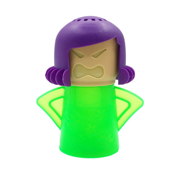 Green Angry Mom Microwave Cleaner